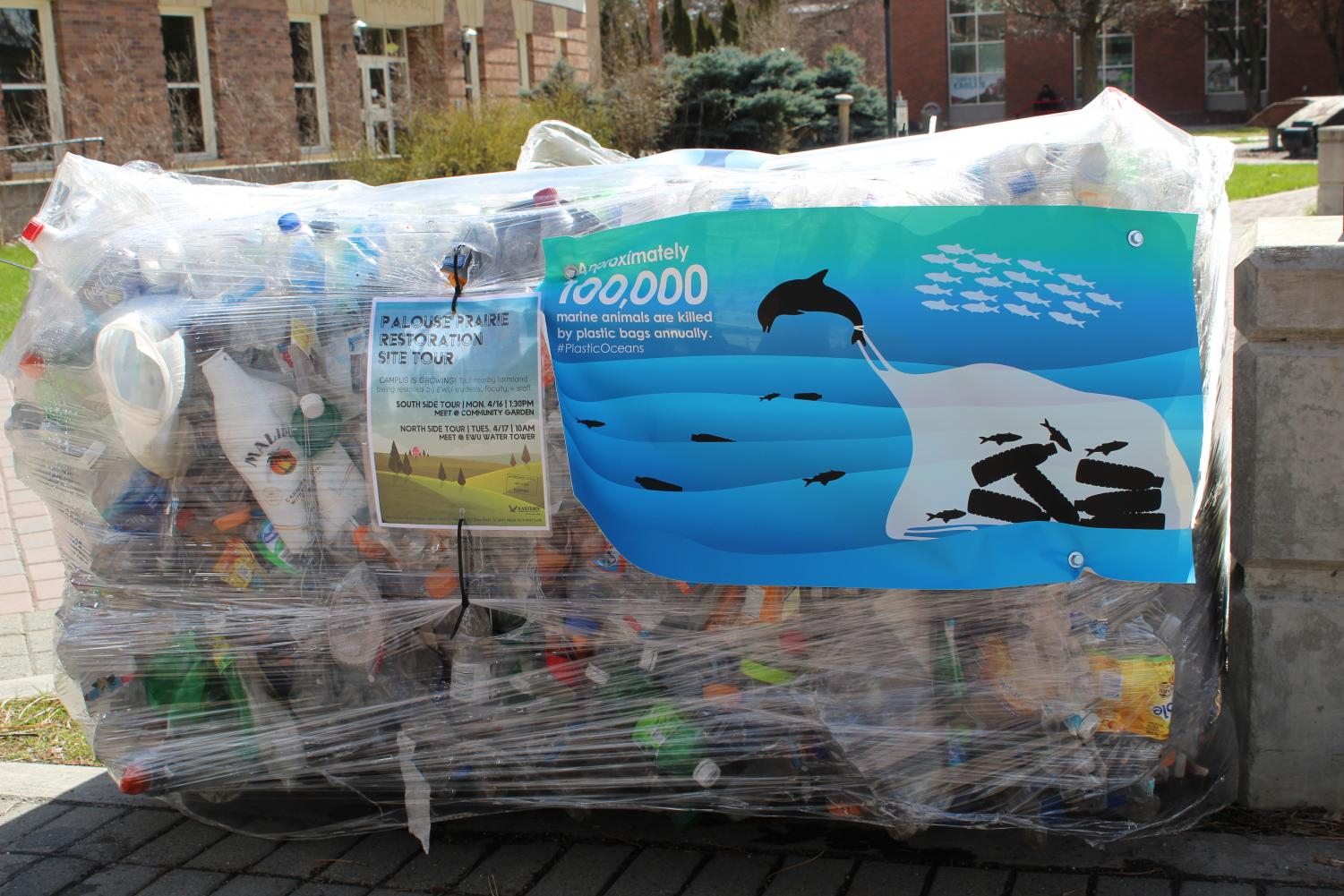 A pallet of recycled plastic | Kelsey Magnuson for The Easterner
