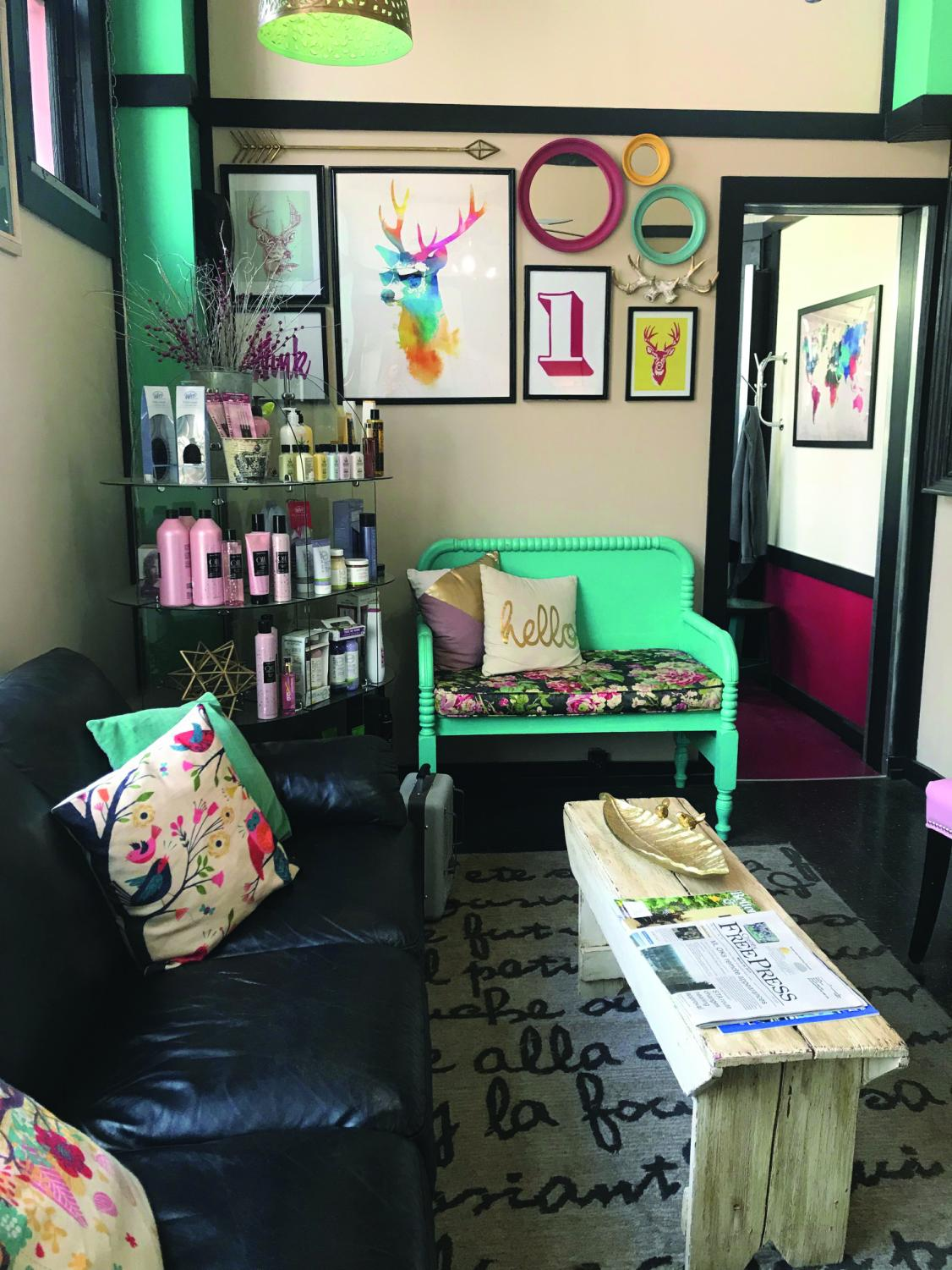 The interior of the Imperial Styling salon. The salon has been in Cheney for 19 years and is seeking to re-open its barbor shop | Sam Jackson for The Easterner