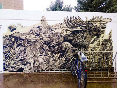 Students create monumental mural