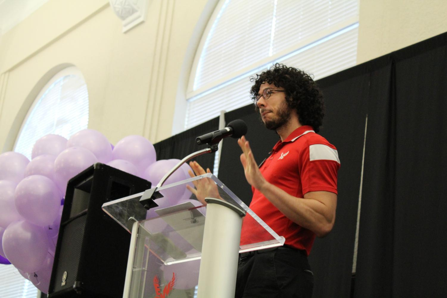 Nick Franco, the Pride Center manager, hosts the Lavender Graduation. EWU has been holding the ceremony since 2010 | Mckenzie Ford for The Easterner
