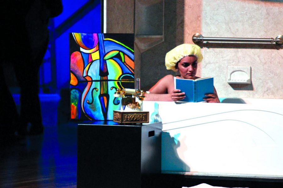 EWUs opera department partakes in Gisela in Her Bathtub. All the props used in this performance were either from the dollar store or donated   Bailey Monteith for The Easterner