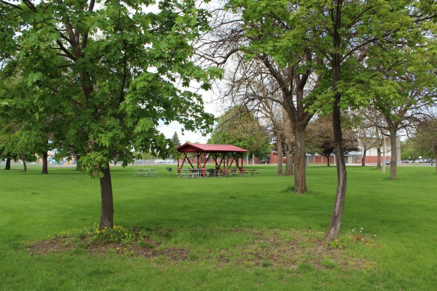 Hagelin Park, located on the 700 block of Cedar Street in Cheney. The park will be the home of a new disc gold course in late spring or early summer | Dylan Harris for The Easterner