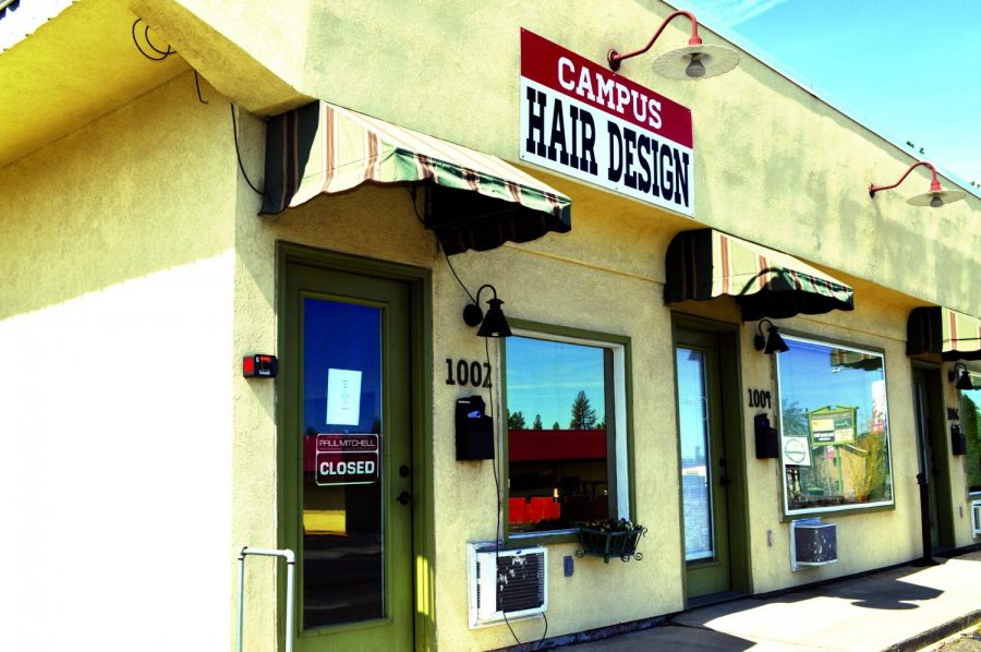 The exterior of Campus Hair Design after relocating from the PUB due to the remodel. Owner Dana Johnson - who had operated the business on a month-to-month lease in the PUB since 1988 - said some of his fondest memories on campus involved working with international students   Bailey Montieth for The Easterner