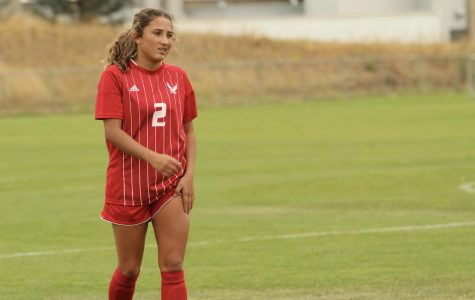 Sophomore midfielder Sariah Keister during EWU soccer's 0-0 tie against South Dakota State on Sunday. With the draw, the Eagles end their non-conference slate with a record of 4-3-2.