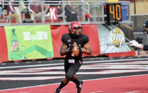 EWU sophomore QB Eric Barriere drops back to pass against Southern Utah University on Oct. 6. The Eagles beat the Thunderbirds 55-17.
