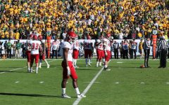 The Eagles' defense gets ready for a third down play in the FCS national championship game in Frisco, Texas, on Jan. 5. EWU athletics spent $169,802 on travel expenses to the game according to a presentation given by Athletic Director Lynn Hickey at the Board of Trustees meeting on Feb. 22.