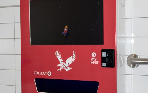 The new vending machine located in the PUB. It currently contains condoms, emergency contraceptive and Advil.