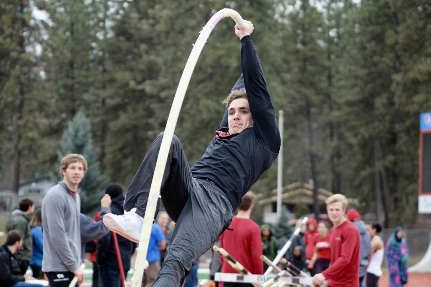 Senior Larry Still has battled through adversity to become EWU's top pole vaulter. At the 47 Pueller Invitational he set the school record vault of 17-feet-6.5-inches.