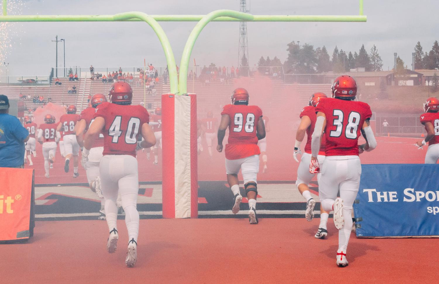 EWU takes the field for its home opener against Lindenwood on Sept. 7. EWU won the game 59-31.