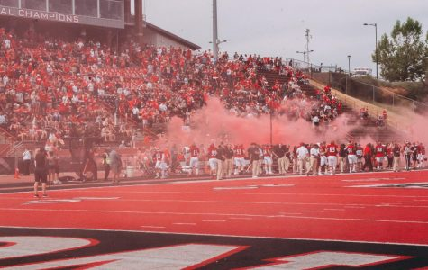 EWU takes the field prior to its 59-31 victory over Lindenwood Sept. 7. EWU takes on Jacksonville State on Sept. 14.