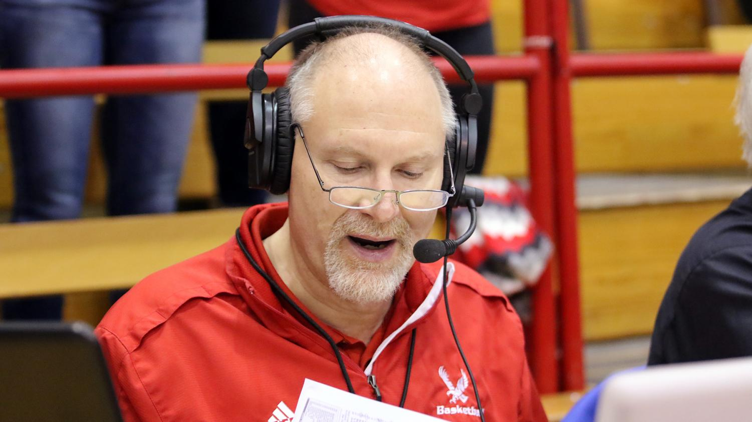 Larry Weir, the radio voice of EWU football and men's basketball.