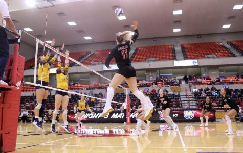 Volleyball swept in home finale