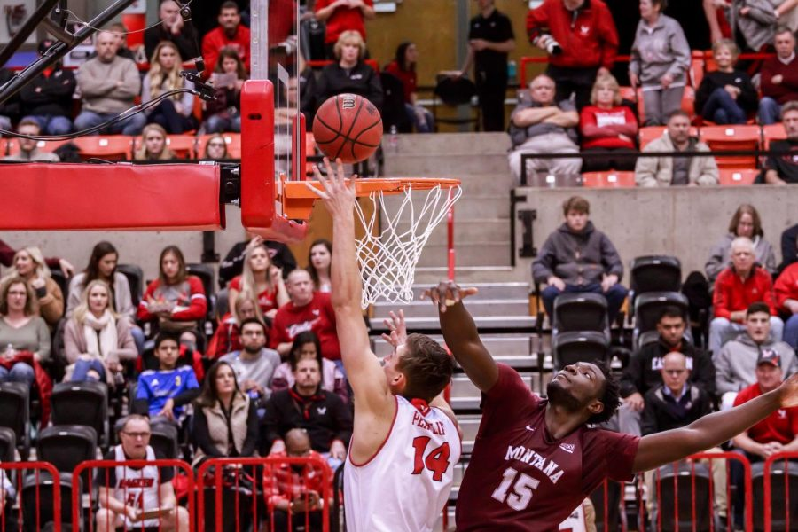 EWU senior forward Mason Peatling lays the ball in during EWU's 78-71 victory over Montana on Jan. 9, 2019. UM returns to Reese Court for a big game Thursday.
