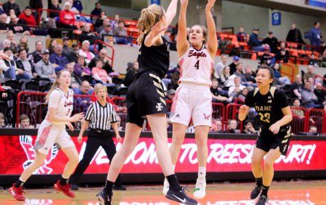 EWU sophomore point guard Jessica McDowell-White rises up for a midrange jumper against Idaho. EWU lost to Idaho 75-46 Thursday.