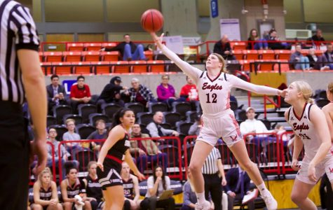 EWU freshman wing Kennedy Dickie led the Eagles with 20 points and seven rebounds in EWU's first round loss to Portland State Monday.