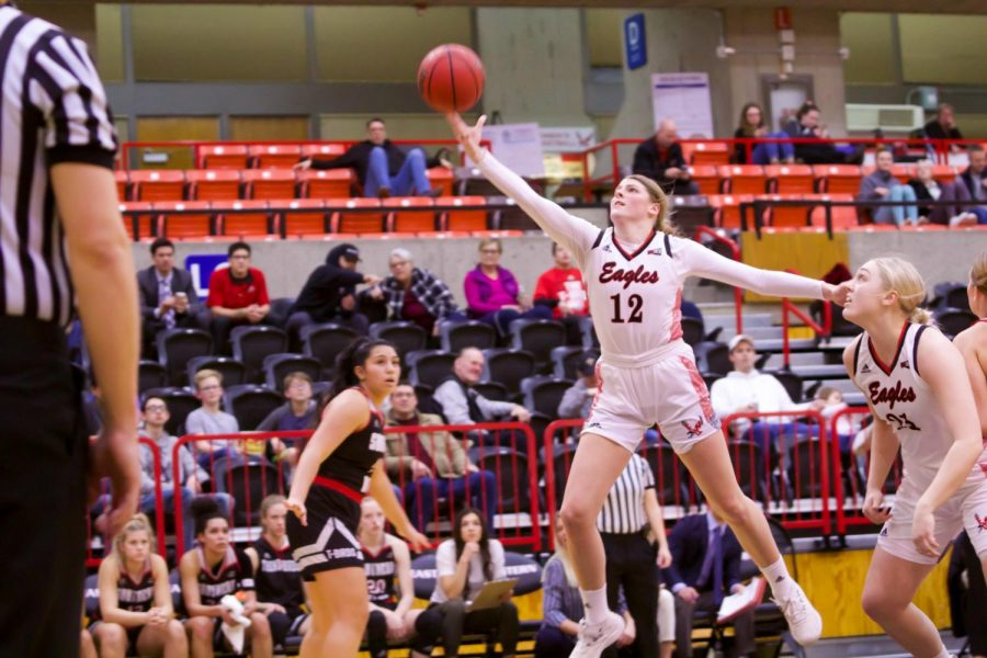 EWU+freshman+wing+Kennedy+Dickie+led+the+Eagles+with+20+points+and+seven+rebounds+in+EWU%27s+first+round+loss+to+Portland+State+Monday.