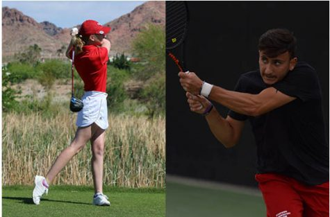 EWU seniors in spring sports, including Madalyn Ardueser of the golf team and Mikayel Kachatryan of the men