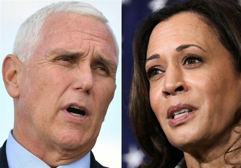 Vice president Mike Pence (left) and Kamala Harris (right).