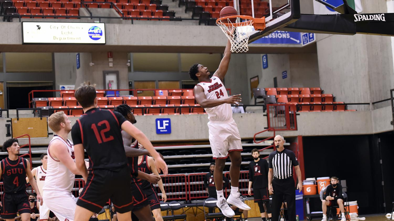 Redshirt junior Kim Aiken Jr. added nine points and 10 rebounds in Thursday's win.