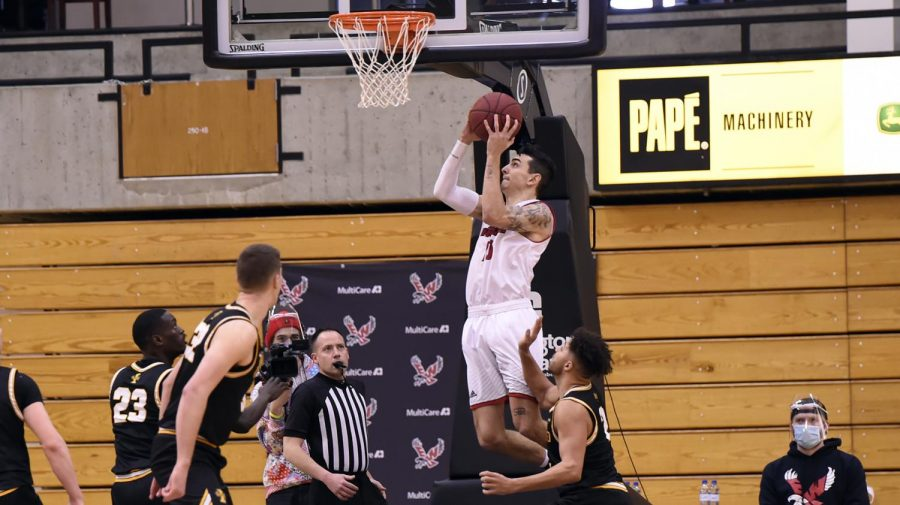 Senior guard Jacob Davidson moved to number 11 on EWU's all-time scoring list