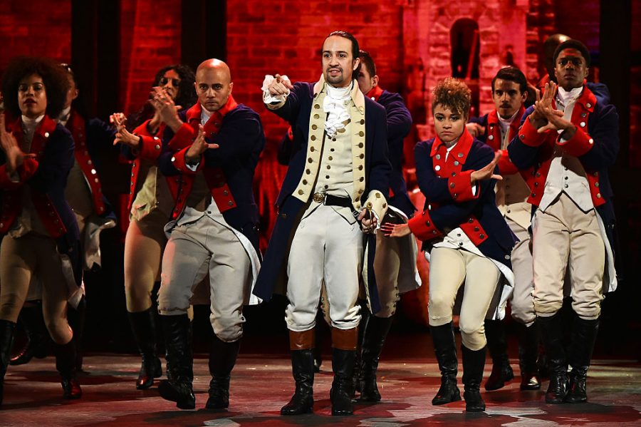 NEW YORK, NY - JUNE 12:  Lin-Manuel Miranda and the cast of